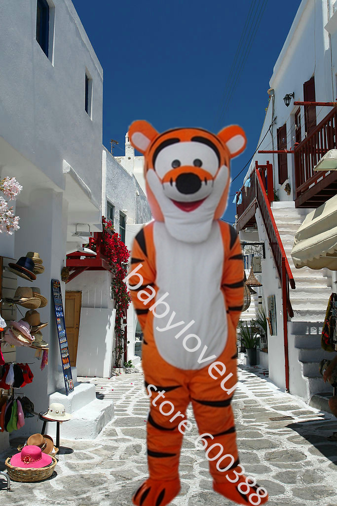 High quality Tigger Mascot Costume Cartoon Halloween Mascot Costume christmas Character Costume Free ShippingОдежда и ак�е��уары<br><br><br>Aliexpress
