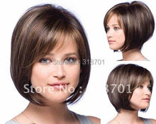 Beautiful Classic hair,Brown and Auburn lightspot Fashion hair,Lady wig,Short hair,,High-quality,Free shipping(China (Mainland))