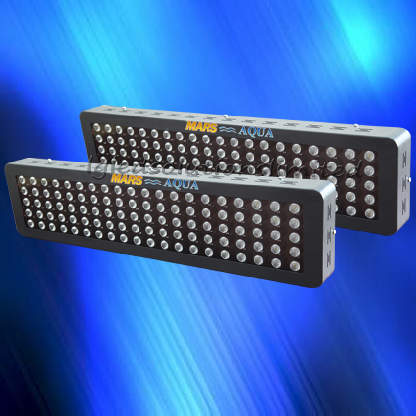 2pcs MarsHydro Dimmable 300W Aquarium Led Light,Full Spectrum 3W Single Chips for Coral Reef Stock in US/UK/GE/AU Free Shipping(China (Mainland))