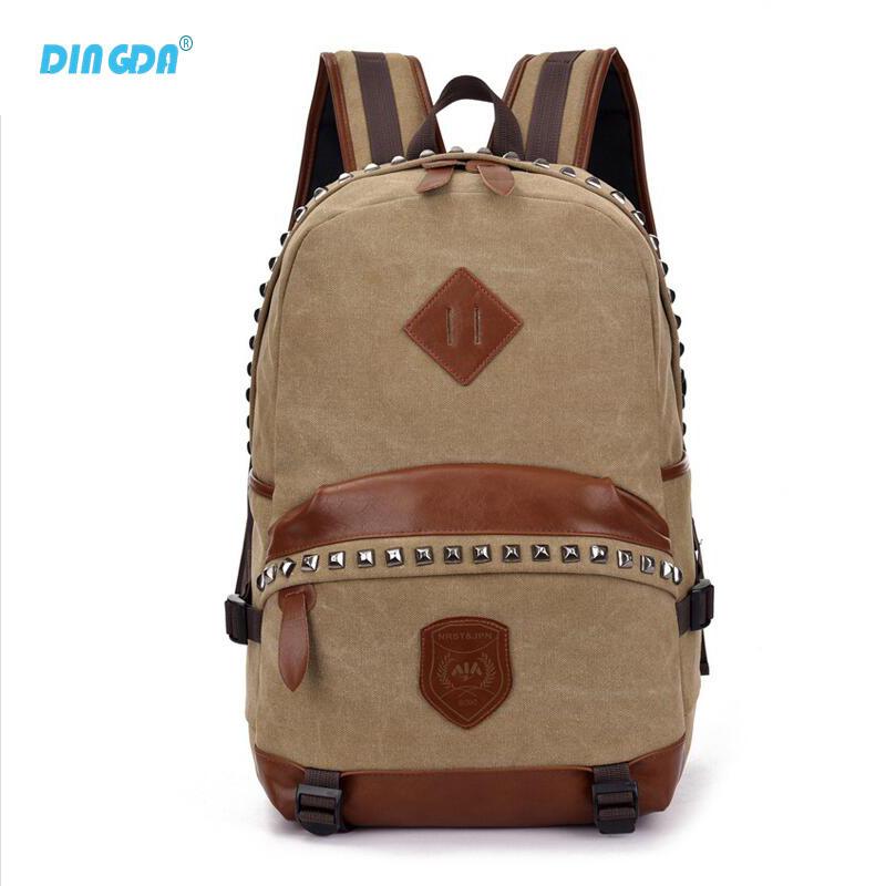 New Vintage Backpack Fashion Women Shoulder Bag Canvas Backpack Multi-Color Leisure Travel School Bags Unisex Backpacks B079