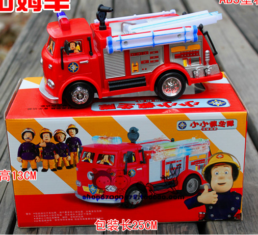 Free shipping FIREMAN SAM Toy Truck Fire Truck Car With Music+LED Boy Toy Educational Toy Retail Box WU031(China (Mainland))