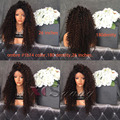 XCSUNNY 180 Density Glueless Full Lace Human Hair Wigs Soft Loose Curly Lace Front Human Hair