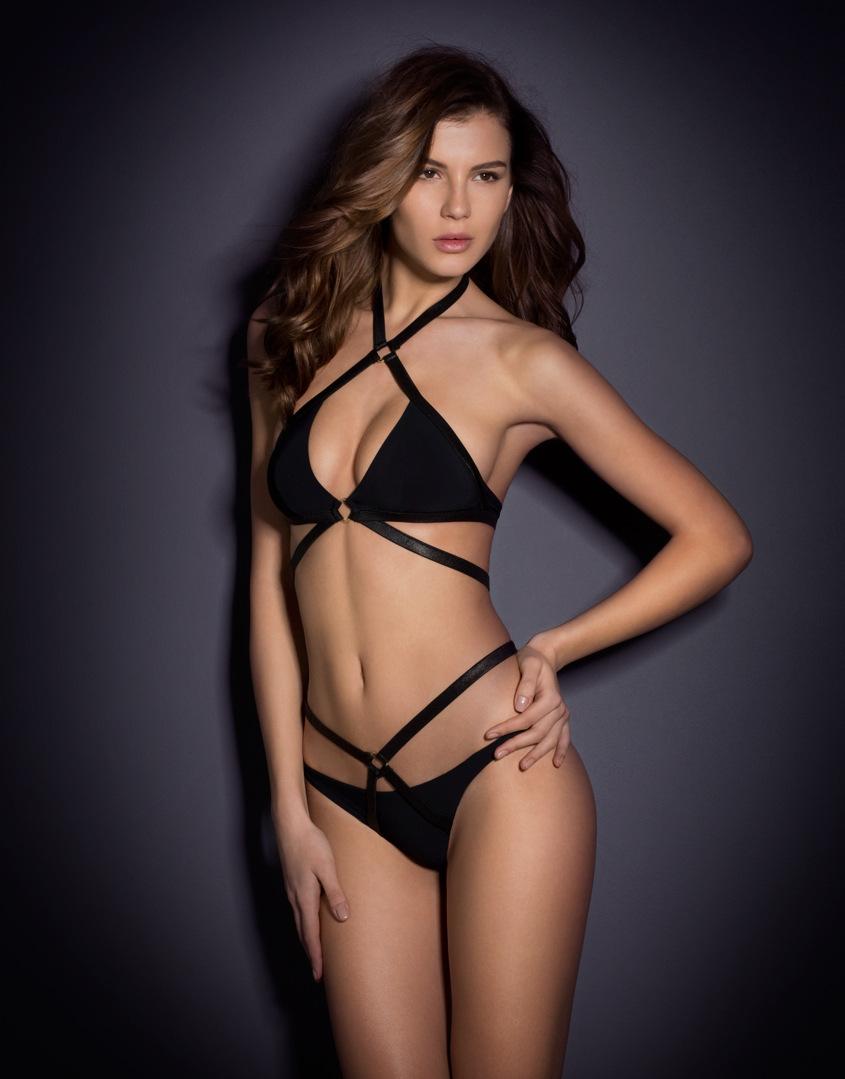 Hot Sexy Woman Strappy Pure Color Beachwear Swimsuit Bandage Two-piece Bikinis Set Push Up Bathing Suit Swimwear Free Shipping