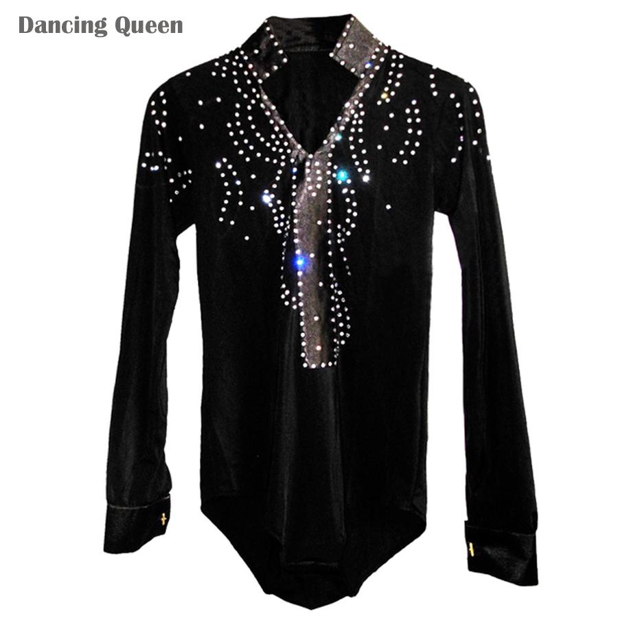 Aliexpress.com : Buy Men/Boy Latin Dance Dress Shirt High ...
