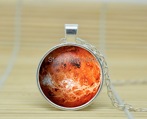 1pcs PLANET Venus Necklace solar system jewelry planet neptune pendant neptune jewelry Galaxy Glass Cabochon Necklace A1085(China (Mainland))