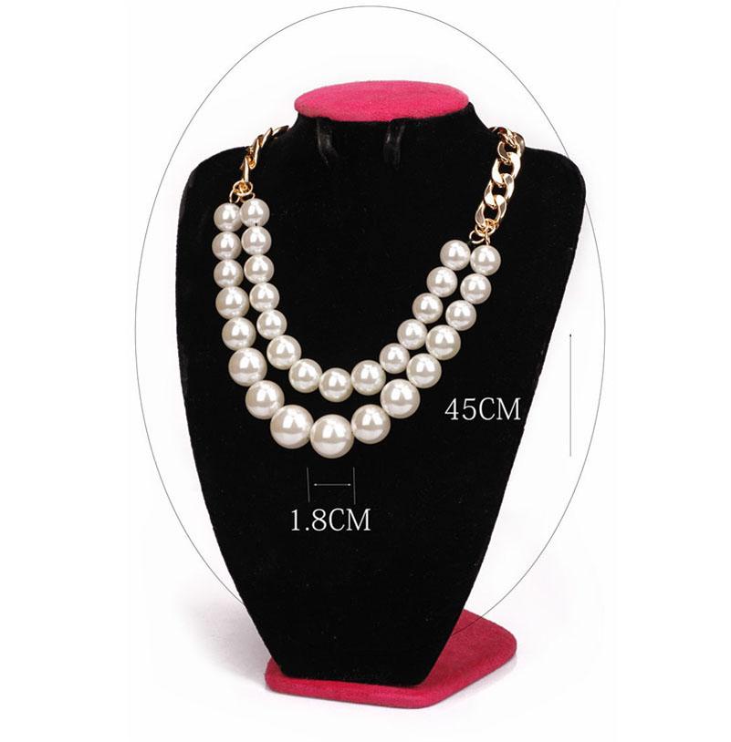 2015 мода смоделированные-жемчуг себе нагрудник ожерелье известных ювелирных ну вечеринку подарки для женщин колье перле воротник perlas N357
