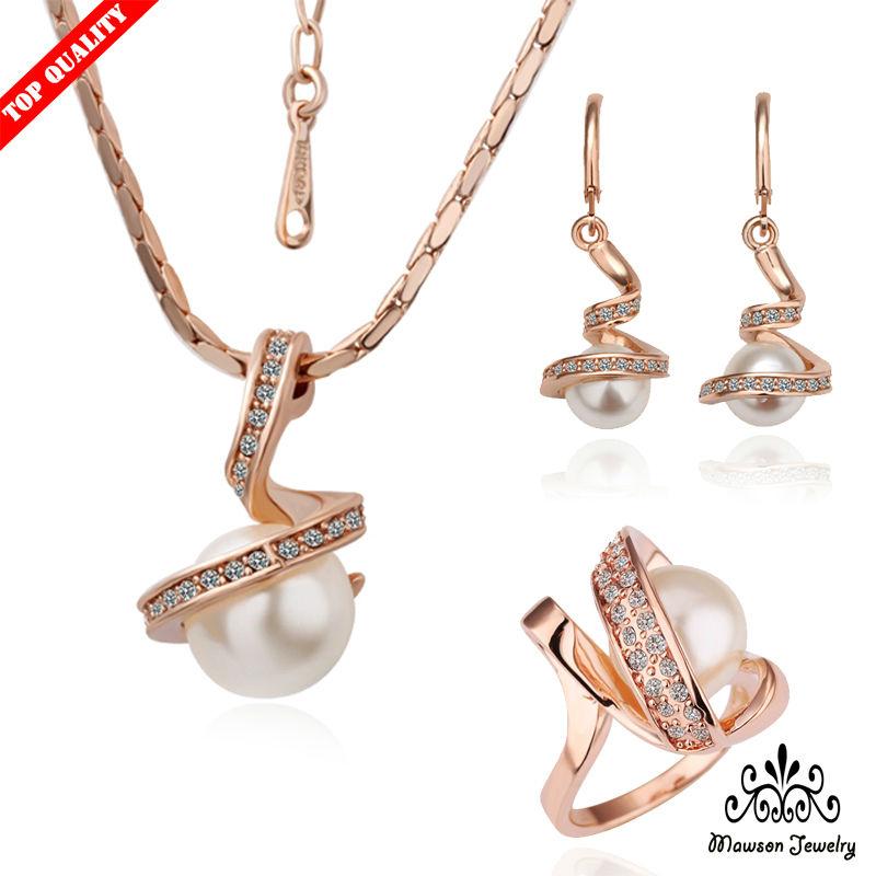 Свадебный ювелирный набор Mawson Jewelry K/s/059, 18 K , K-S-059 crystalart лев в багете л 059 craл 059