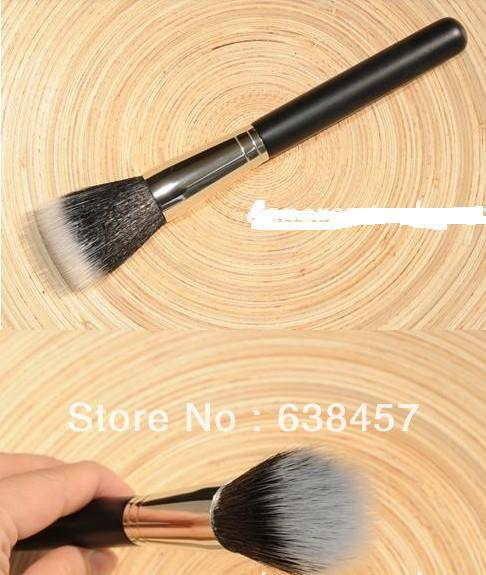 Professional Cosmetic Duo Fiber Powder Stippler Brush # 187 BLACK Handle - wang xiong's store