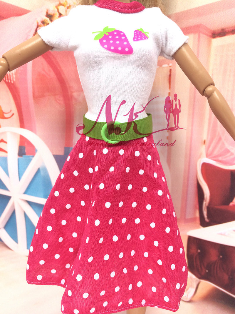 NK Latest Authentic Costume  Pink Costume  Doll Garments Handmade Celebration Outfit  For Barbie Authentic Doll Ladies' Present  B011