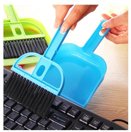 2016 Limited New Hand Makeup Brush Cleaner G Mini Desktop With A Small Broom Dustpan Sets Keyboard Cleaning Brush Shovel Even(China (Mainland))