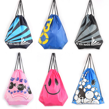 2016 New Manufacturers wholesale custom beach bag shoulder drawstring Pouch beam port waterproof clothing fitness swim bag 420D(China (Mainland))