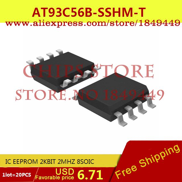Бесплатная Доставка Электронные Компоненты IC EEPROM 2 КБИТ 2 МГЦ AT93C56B-SSHM-T 8 SOIC 93C56 AT93C56 20 ШТ. max6225aesa t 8 soic