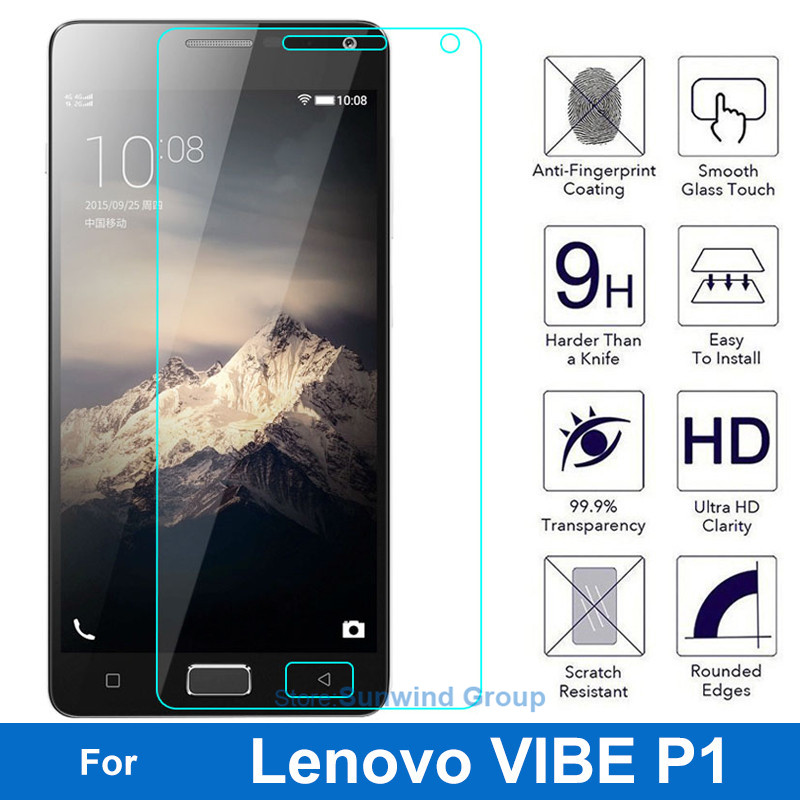 0.26MM 9H Explosion-proof Tempered Glass Screen Protector Protective Film For Lenovo VIBE P1 P 1 P1a42 P1c72 P1c58 Dual Sim Lte(China (Mainland))