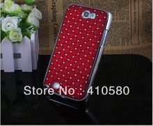 Free shipping Electroplate Bling Diamond Hard Case Cover For Samsung Galaxy Note 2,N7100,wholesale 1000 pcs/lot(China (Mainland))