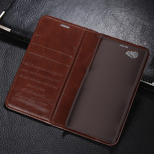 Genuine Leather Magnetic Auto Flip Card Holder Case For Sony Xperia Z1 mini Z1 Compact D5503 M51W Original Brand Cell Phone Case
