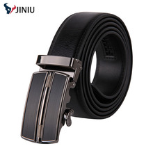 Fashion Genuine leather belt for men Business men Belts Automatic Buckle double faced cowhide belt luxury MZ005
