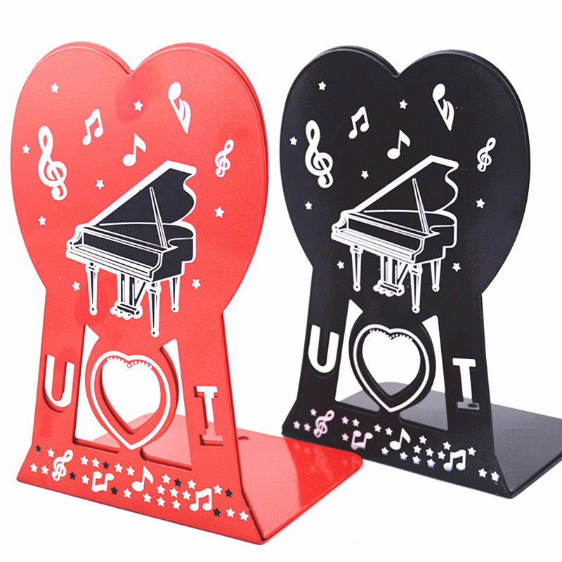 Heart piano metal bookend bookend a pair of<br><br>Aliexpress
