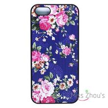 For iphone 4/4s 5/5s 5c SE 6/6s plus ipod touch 4/5/6 back skins mobile cellphone cases cover Beautiful Pink Blue Flower Floral