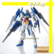 Free shipping action figures robot anime assembled Gundam MC HG 1:100 AGE-2  luminous stickers original box gundam