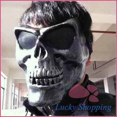 2014 New Halloween Full Face Mask Army Field Skeleton Warrior Counter-Terrorism Ghost Party Masks CS Games Wear - LADIES First store