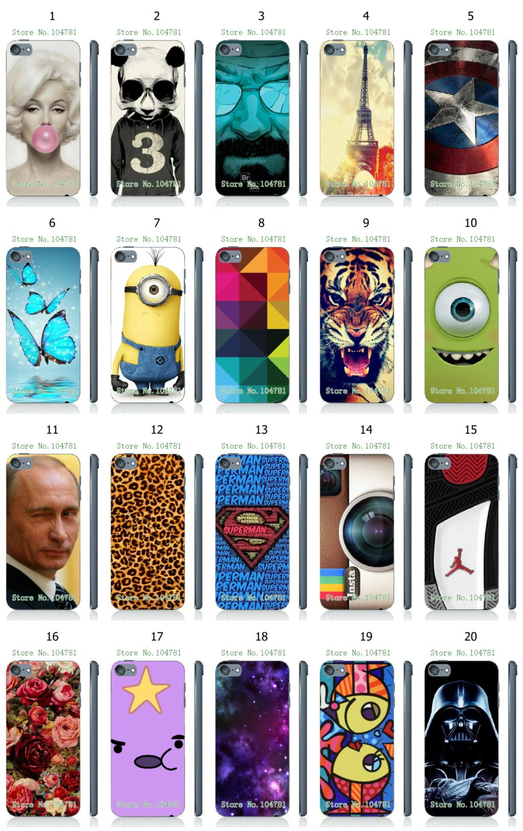 Mobile Phone Case New 1pc Instagram Minions Eiffel Tower Hybrid Design Protective White Hard Case For Ipod Touch 5 Free Shipping(China (Mainland))