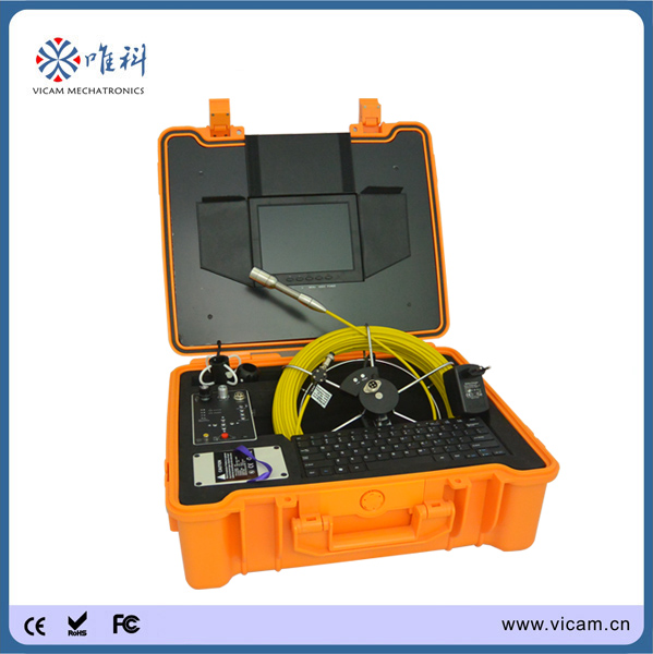 30m / 100ft push rod cable with meter counter Sewer Survey Inspection Camera System Video Recording Picture Snap(China (Mainland))