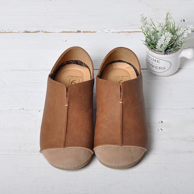 Кожа чистый ручной работы обувь, В ретро искусство мори девочка обувь, Женщины в ...
