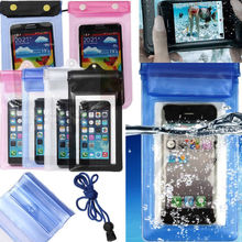 Transparent Waterproof Underwater Pouch Bag Dry Case Cover For iPhone For Samsung For HTC For Nokia(China (Mainland))