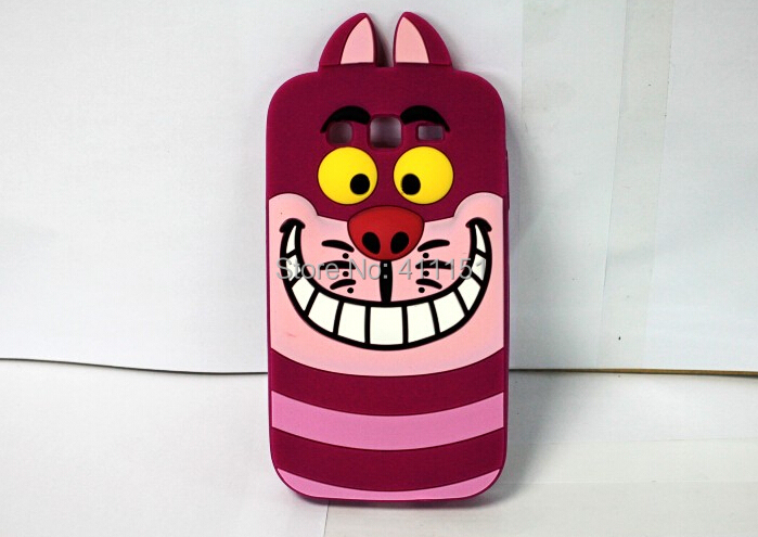 Cute 3D Cartoon Cheshire Cat Silicone Case Back Cover Samsung Galaxy Grand Neo i9060 9062