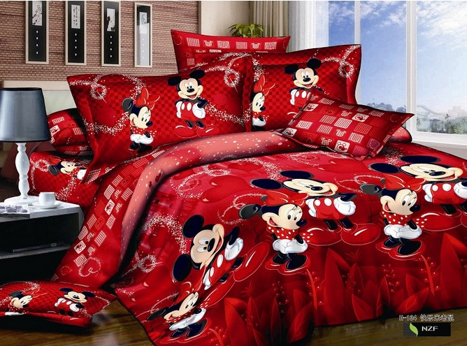 popular mickey minnie mouse bedding buy cheap mickey. Black Bedroom Furniture Sets. Home Design Ideas