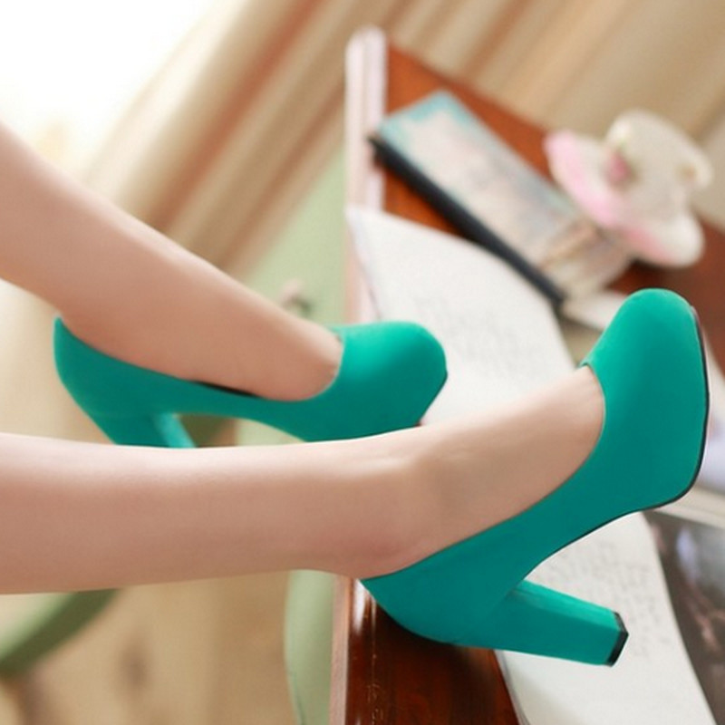 2015 New Arrivals Fashion Thick High Heels Round Toe High Heels Platform Pumps Shoes Sexy Buckle Strap Pumps Hot Sale<br><br>Aliexpress
