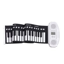 Portable 61 Keys Silicone Flexible Roll Up Piano Foldable Keyboard Hand-rolling Piano(China (Mainland))