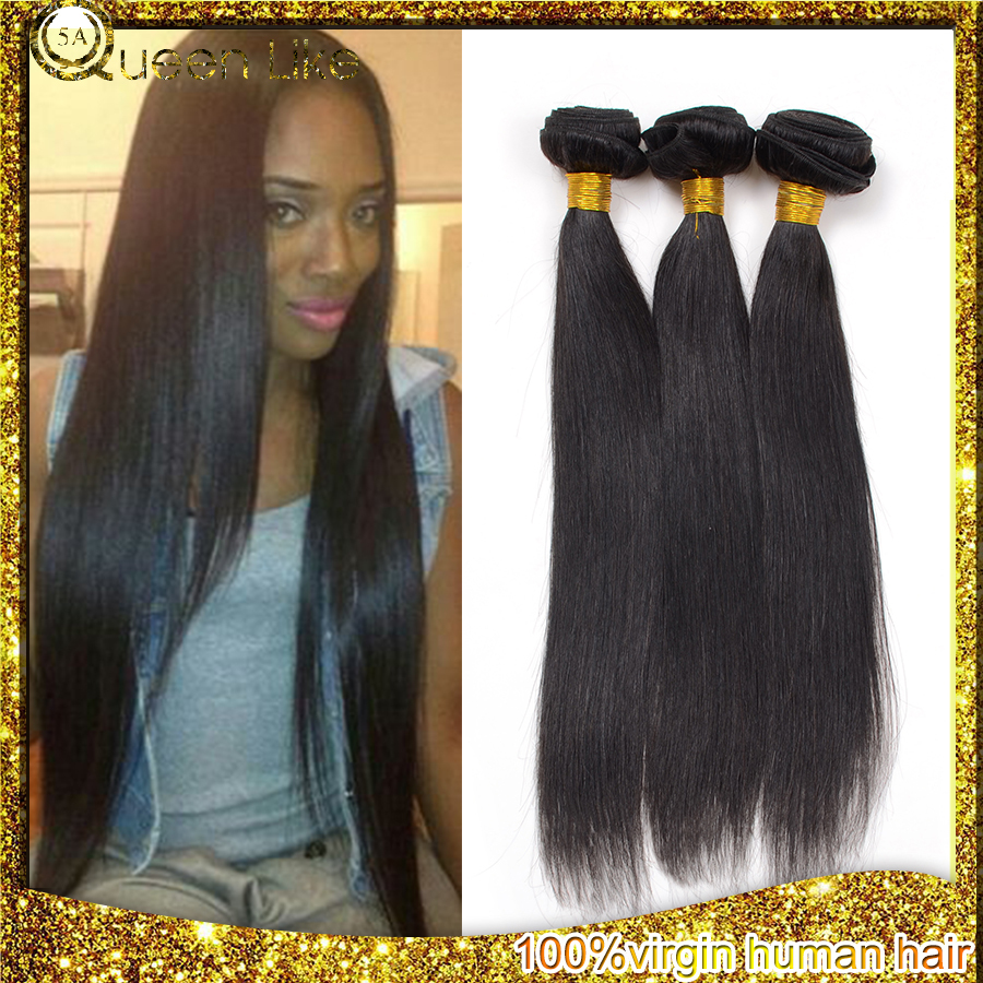 Ms Lula Hair Wholesale Brazilian Virgin Hair Straight 3 Bundles/Lot Smooth Aliexpress Hair Brazilian Human Hair Weave Bundles(China (Mainland))