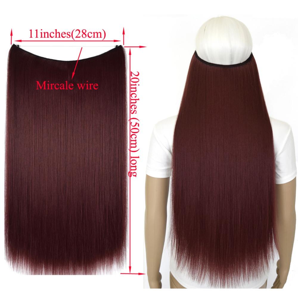 """Верхние термостойкие B5 синтетические волосы 20 """"50 см 50 г эластичность невидимая 0000"""