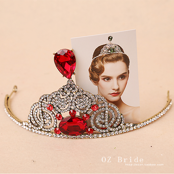 Taiwan SA authentic New! Europe subsection (Red Green) Optional accessories bridal crown queen crown<br><br>Aliexpress