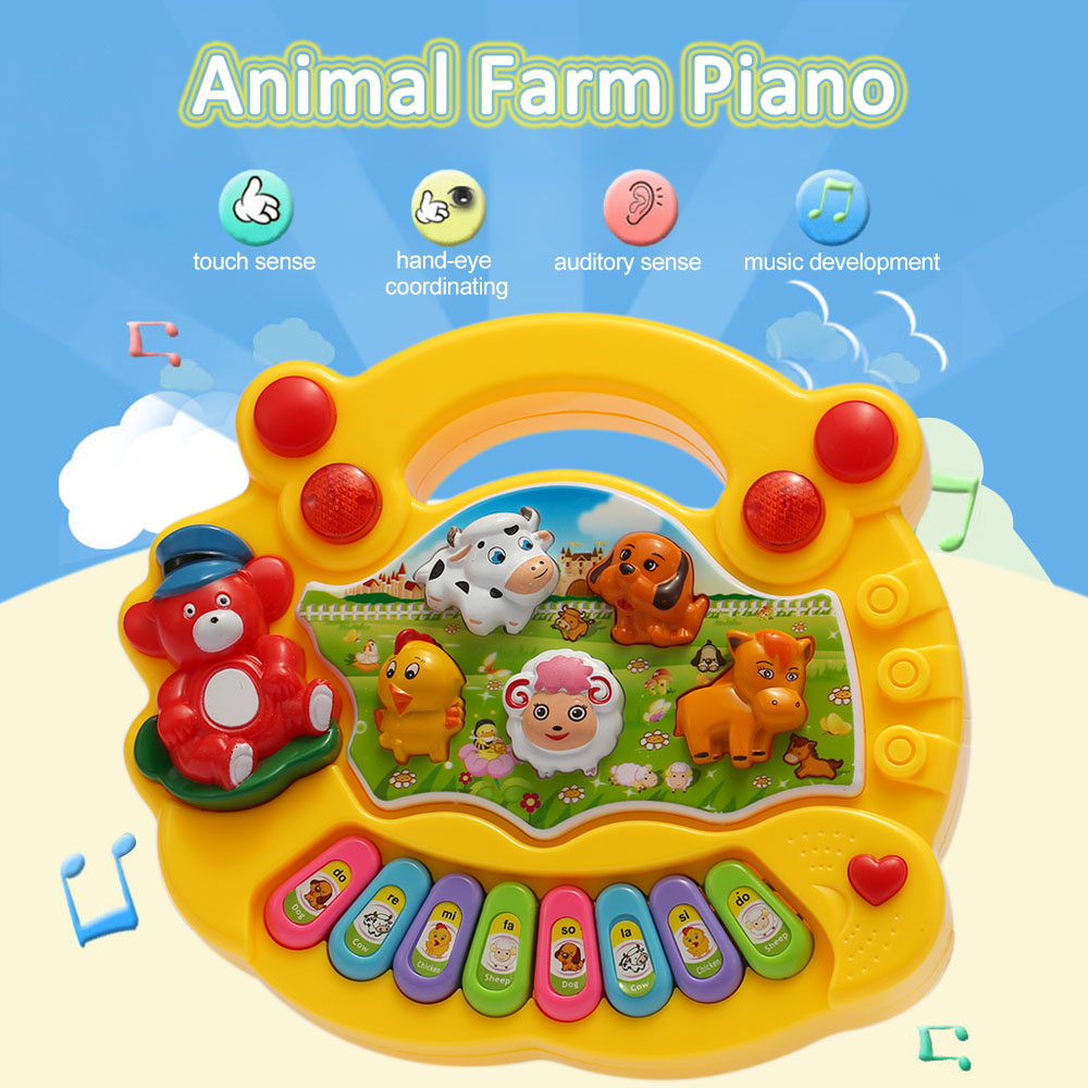 Coolplay Musical Toys Animal Farm Piano Electronic Keyboard Music Development Musical Educational Baby Toddler Kids Toys(China (Mainland))