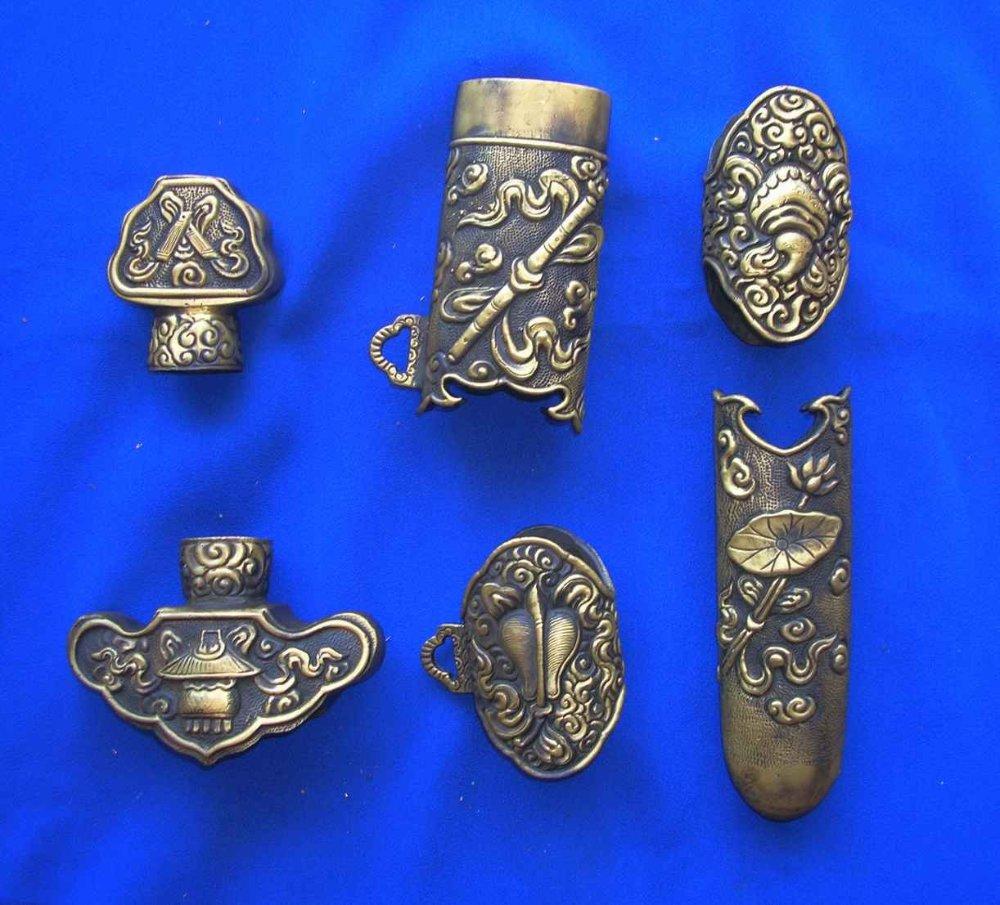 Brass set fittings of chinese sword(China (Mainland))