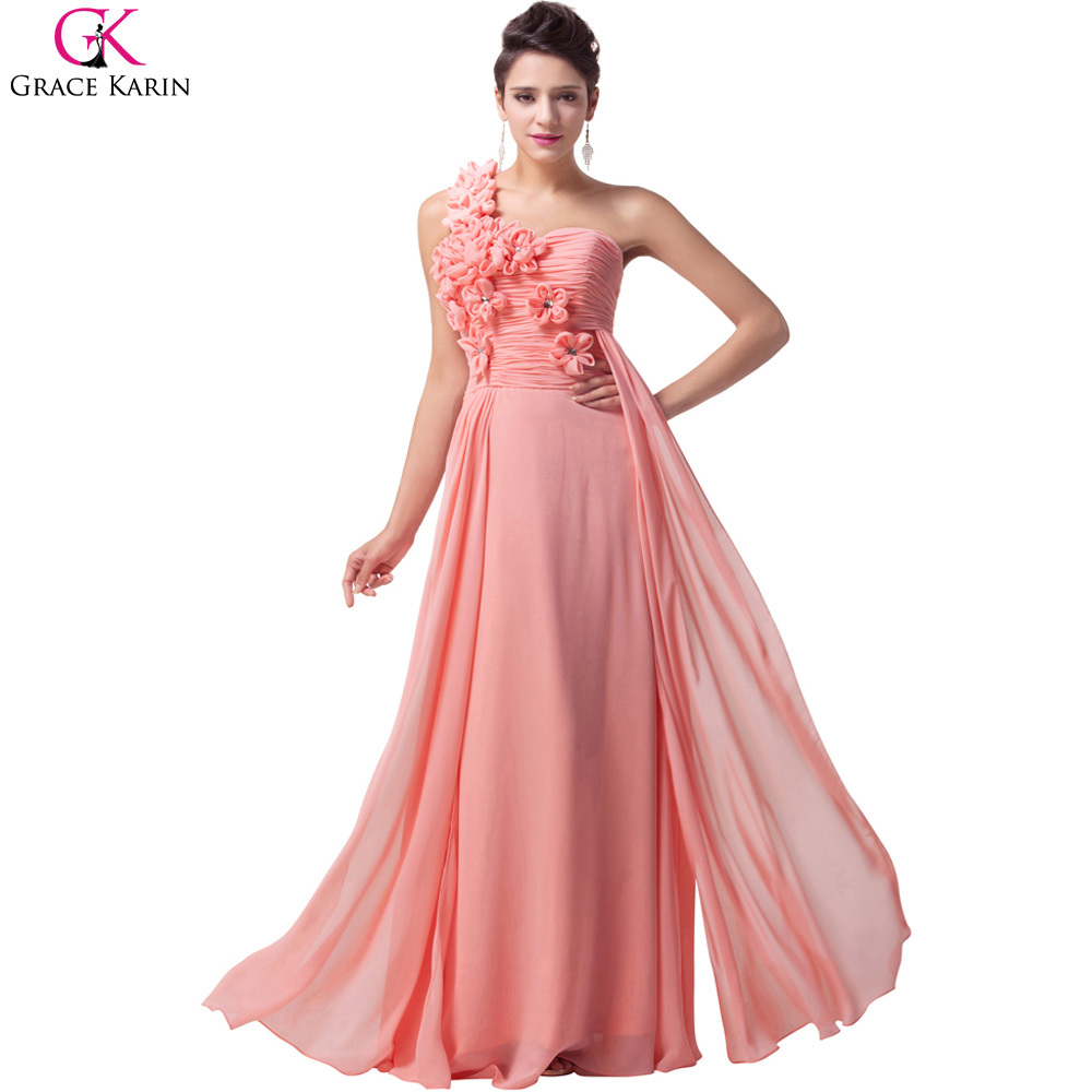 Cheap white pink paleturquoise grace karin long chiffon for Wedding party dresses for women