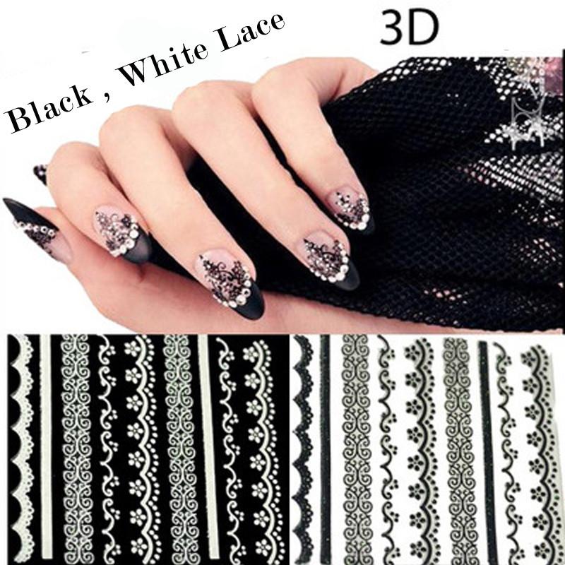 Nail polish stickers french manicure