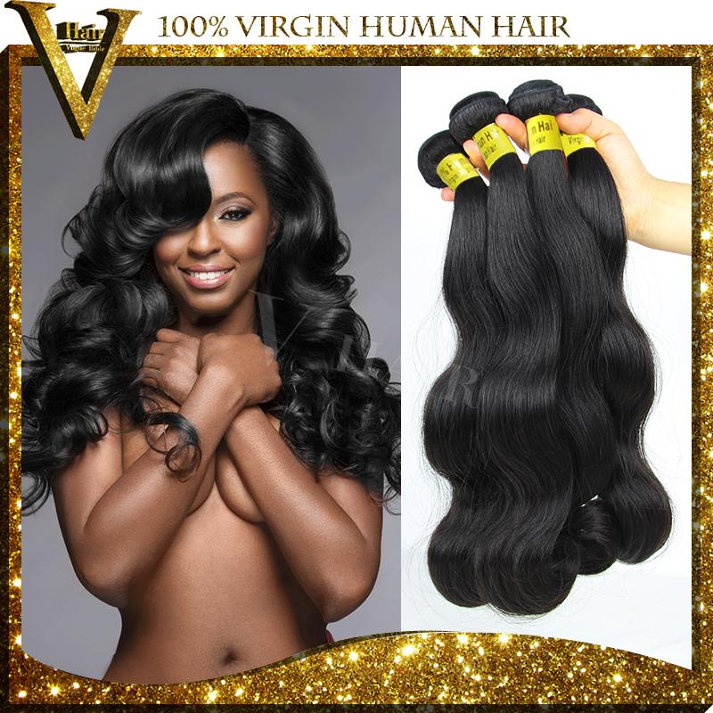 Unprocessed 6A Quality Brazilian Virgin Hair Body Wave Human Hair Extension 3Pcs Lot Cheap Wholesale Virgin Brazilian Hair Weave(China (Mainland))