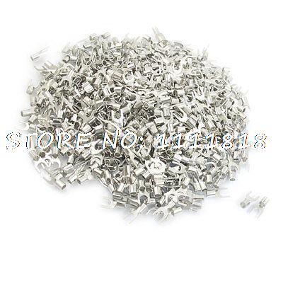 SNB5.5-5 Fork Type Non-Insulated Spade Cable Terminals 1000pcs for AWG 12-10<br><br>Aliexpress