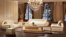 Modern Genuine Leather Sofa Set Furniture Model Number EVSOFA-8(China (Mainland))