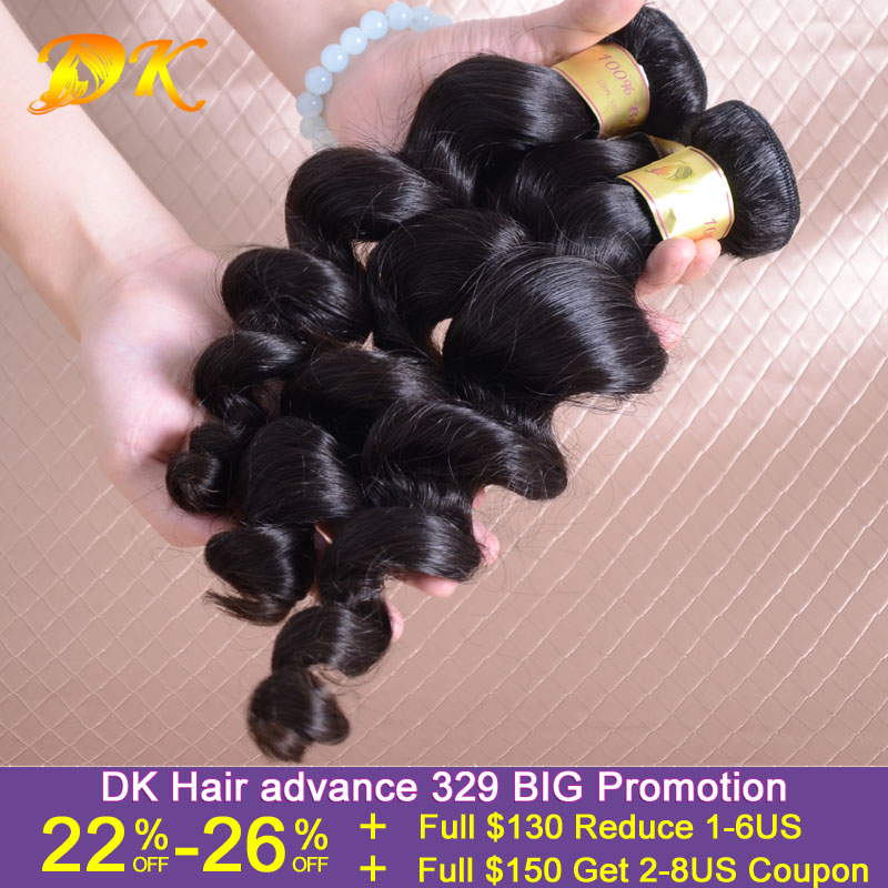 Malaysian Virgin Hair Loose Wave 100% Human Hair 5 Piece Lot Mixed Lengths Remy Hair Weave DK Hair Products Free Shipping