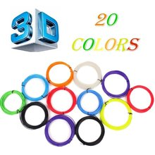 20 Colors/set  3D Printer Pen Filament ABS 1.75mm Plastic Rubber Consumables Material 3d pen filament