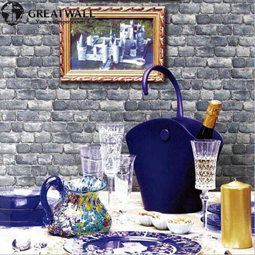 Great Wall PVC modern brick wallpaper for living room luxury wall paper 3D retro brick imitation grain stone grain wallpapers co(China (Mainland))