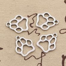 99Cents 12pcs Charms dog paw 19*17mm Antique Making pendant fit,Vintage Tibetan Silver,DIY bracelet necklace(China (Mainland))