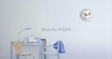 Free Shipping 1Piece Pop Quiz Math Equations Wall Clock Fashion Home Wall Clock Wood & Glass Clock(China (Mainland))