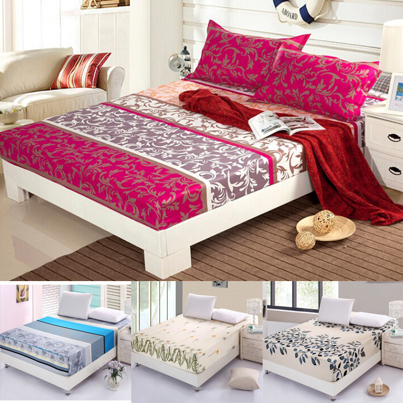 Hot 100 cotton fitted sheet with rubber belt mattress for Sabanas para cama king size