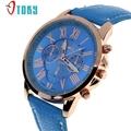 OTOKY Geneva style Roman Numerals Faux Leather Analog Quartz Wrist Watch for women reloj relogio 30