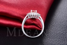 Vintage Rings For Women party red CZ diamond White gold plated ruby engagement jewelry for women
